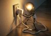 Stopcontact, lamp