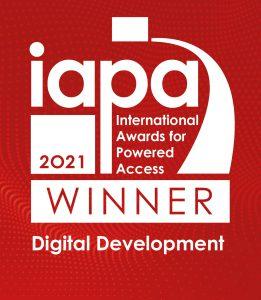IAPA Winner logo - rivaal-hoogwerker